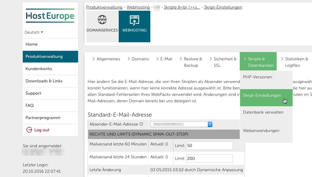 E Mailversand Bei Hosteurope Konfigurieren Fenepedia